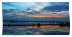 Blue Sky Sunset Hand Towel by Tom Claud