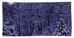 Hand Towel featuring the photograph Blue Snow by David Dehner