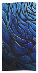 Blue Stained Glass Hand Towel