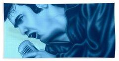 Blue Suede Shoes Bath Towel by Darren Robinson
