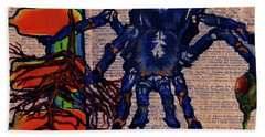 Blue Tarantula Hand Towel