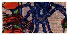 Blue Tarantula Hand Towel by Emily McLaughlin