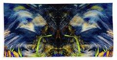 Blue Tigers Devil Hand Towel