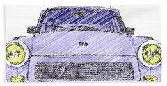 Blue Trabant Bath Towel