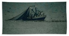 Blue Trawler 3 Bath Towel