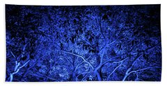 Blue Trees Hand Towel