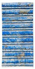 Blue Weathered Metal  Hand Towel