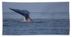 Blue Whale Tail Bath Towel by Suzanne Luft