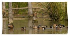 Blue-winged Teal Hand Towel