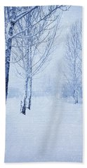 Blue Winter Path Hand Towel
