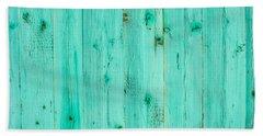 Blue Wooden Planks Hand Towel by John Williams