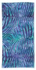 Blue Zebra Print Hand Towel