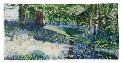 Bluebell Forest Hand Towel by Joanne Perkins