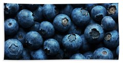 Blueberries Background Close-up Bath Towel