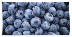 Blueberries Hand Towel by Happy Home Artistry