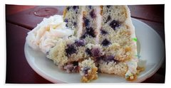Blueberry Cake With Lemon Icing Hand Towel