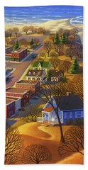 Blueberry Cottage Hill  Hand Towel