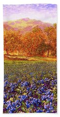 Blueberry Fields Season Of Blueberries Bath Towel