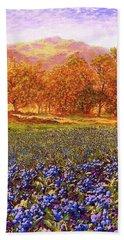 Blueberry Fields Season Of Blueberries Hand Towel