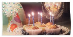 Blueberry Muffin Birthday Hand Towel
