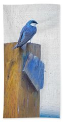 Bath Towel featuring the photograph Bluebird by James BO Insogna