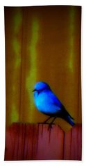 Hand Towel featuring the photograph Bluebird Of Happiness by Karen Shackles
