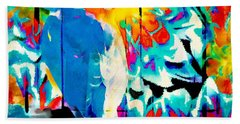 Bluebird Pop Art Bath Towel