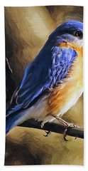 Bluebird Portrait Hand Towel