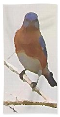 Bluebird Stare  Hand Towel