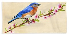 Bluebird's Spring Hand Towel