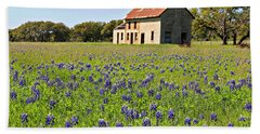 Bluebonnet Field Bath Towel