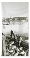 Bluefin Tuna At Barnstable Harbor Bath Towel