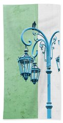 Blue,green And White Hand Towel