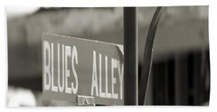 Blues Alley Street Sign Bath Towel