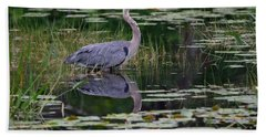 Blue's Image- Great Blue Heron Hand Towel