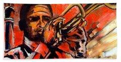 Blues On Bourbon Street Hand Towel by Diane Millsap