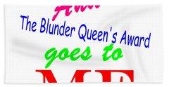 Blunder Queen Hand Towel