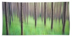 Blurred Aspen Trees Bath Towel