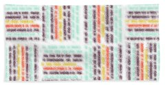 Blurred Lines Hand Towel