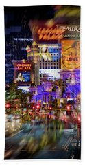 Blurry Vegas Nights Bath Towel