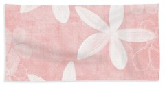 Blush Blossoms 3- Art By Linda Woods Hand Towel