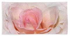 Blush Pink Dewy Rose Bath Towel