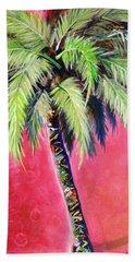 Blushing Pink Palm Hand Towel