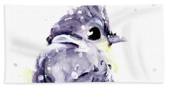 Hand Towel featuring the painting Blustery by Dawn Derman