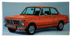 Bmw 2002 1968 Painting Hand Towel