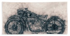 Bmw R32 - 1919 - Motorcycle Poster - Automotive Art Bath Towel