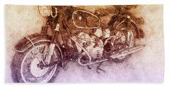Bmw R60/2 - 1956 - Bmw Motorcycles 2 - Vintage Motorcycle Poster - Automotive Art Bath Towel
