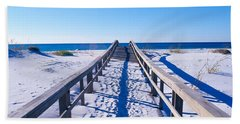 Boardwalk At Santa Rosa Island Hand Towel