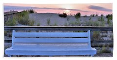 A Welcome Invitation -  The Boardwalk Bench Hand Towel