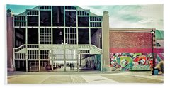 Bath Towel featuring the photograph Boardwalk Casino - Asbury Park by Colleen Kammerer